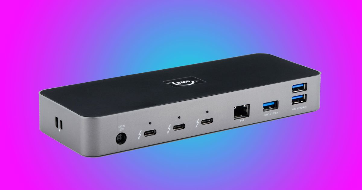 OWC's Thunderbolt 4 dock makes up for the new laptops' lack of ports