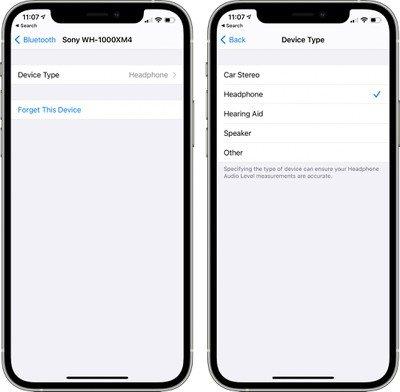 Bluetooth device type ios 14 4