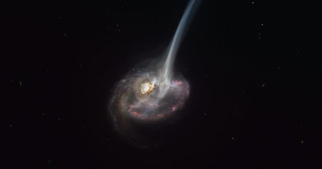 Astronomers notice the death of a distant galaxy for the first time