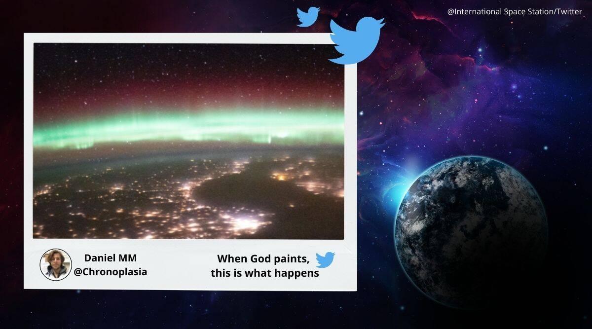 Aurora, Earth's aurora, International Space Station, ISS earth aurora pictures, Earth's aurora from space, Aurora from space, Aurora from space station, NASA, Trending news, Indian Express news.