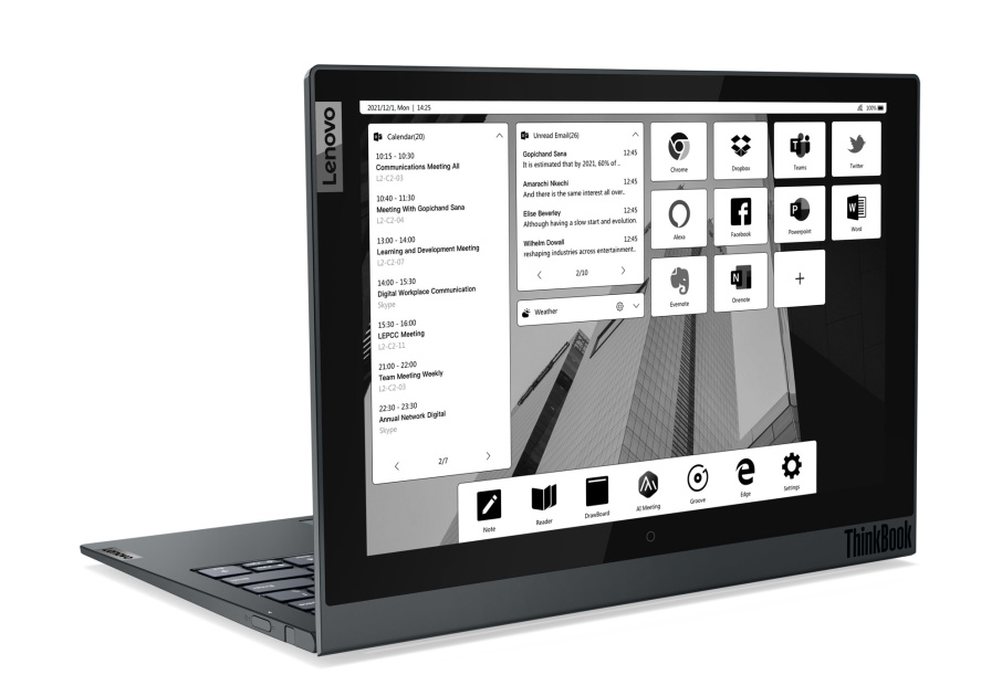 Lenovo's updated ThinkBook Plus has a more practical E Ink screen